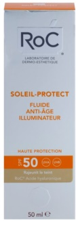 RoC Soleil Protexion+ Beschermende Stralende Fluid tegen Huidveroudering  SPF50