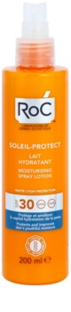 RoC Soleil Protect schützende und feuchtigkeitsspendende Milch im Spray SPF30