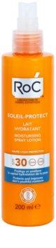 RoC Soleil Protect védő és hidratáló tej spray formában SPF 30