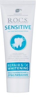 R.O.C.S. Sensitive Repair & Whitening remineralisierende Zahncreme für empfindliche Zähne
