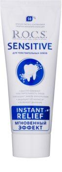 R.O.C.S. Sensitive Instant Relief Remineralisierende Zahncreme mit Calcium für empfindliche Zähne