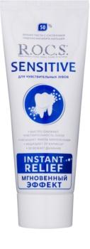 R.O.C.S. Sensitive Instant Relief реминерализираща паста за зъби с калций за чувствителни зъби