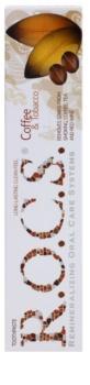 R.O.C.S. Coffee & Tobacco bělicí pasta pro kuřáky proti skvrnám na zubní sklovině