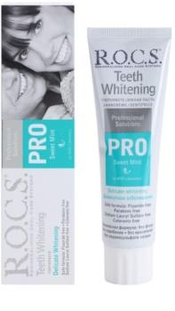R.O.C.S. PRO Sweet Mint pasta de dentes suave branqueadora