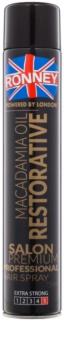 Ronney Macadamia Oil Restorative laca de pelo fijación fuerte