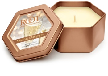 Root Candles Sparkling Champagne scented candle in tin