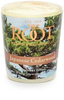 Root Candles Japanese Cedarwood votivní svíčka 60 g