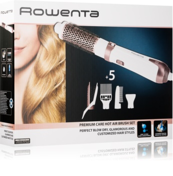 Rowenta Premium Care Hot Air Brush CF7830F0 escova de ar quente