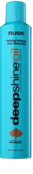Rusk Deep Shine Oil spray de cabelo para secagem rápida para fixação e forma