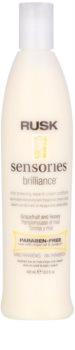 Rusk Sensories Brilliance creme condicionador Leave- In para cabelo pintado e sensível