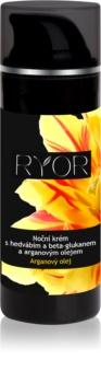 RYOR Argan Oil crema de noche con seda y beta glucano
