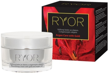RYOR Argan Care with Gold hranilna krema z zlatom in arganovim oljem