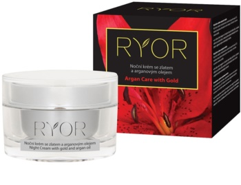 RYOR Argan Care with Gold nočna krema z zlatom in arganovim oljem