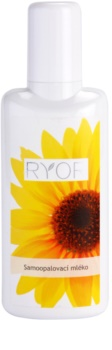 RYOR Face & Body Care samoopaľovacie telové mlieko