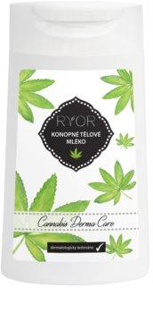 RYOR Cannabis Derma Care loțiune corporală cu cânepă pentru piele foarte sensibilă, predispusă la iritație și roșeață