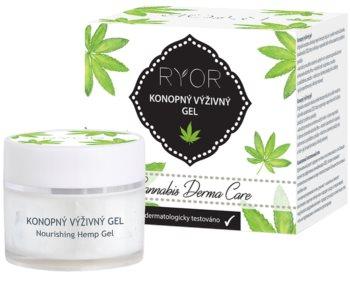 RYOR Cannabis Derma Care konopný výživný gel na obličej a tělo