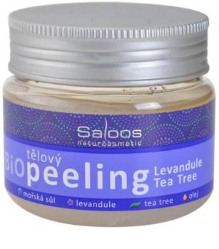 Saloos Bio Peeling пілінг для тіла лаванда та чайне дерево