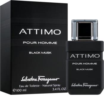 Salvatore Ferragamo Attimo Black Musk toaletna voda za muškarce 100 ml