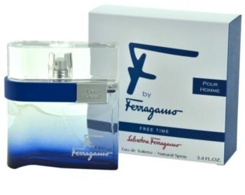 Salvatore Ferragamo F by Ferragamo Free Time eau de toilette pour homme 100 ml