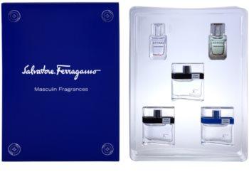 Salvatore Ferragamo Masculin Fragrances darčeková sada Pour Homme 5 ml, Free Time 5 ml, Black 5 ml, Attimo 5 ml, Attimo L'eau 5 ml