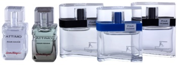 Salvatore Ferragamo Masculin Fragrances dárková sada Pour Homme 5 ml, Free Time 5 ml, Black 5 ml, Attimo 5 ml, Attimo L'eau 5 ml