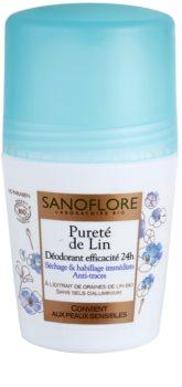 Sanoflore Déodorant deodorant roll-on fara continut de aluminiu 24 de ore