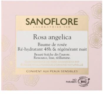 Sanoflore Rosa Angelica crema de noche hidratante con efecto regenerador