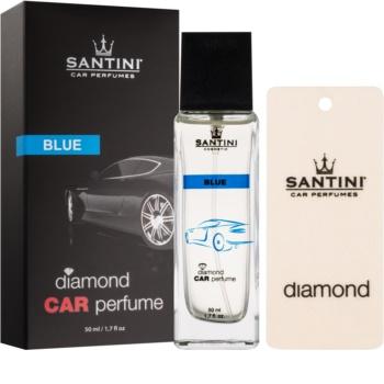 SANTINI Cosmetic Diamond Blue ambientador de coche para ventilación 50 ml