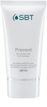 SBT Prevent crema hidratante y calmante para las primeras señales de envejecimiento de la piel