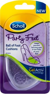 Scholl Party Feet Ultra Slim pernute de gel gel pentru varful talpii