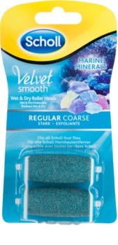 Scholl Velvet Smooth Regular Coarse Replacement Heads For Electronic Foot File