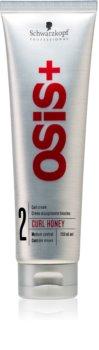 Schwarzkopf Professional Osis+ Curl Honey hajformázó krém hullámos hajra