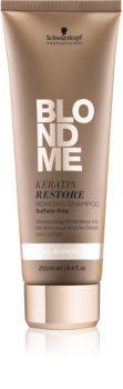 Schwarzkopf Professional Blondme obnovitveni šampon s keratinom za vse tipe blond las