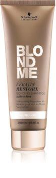 Schwarzkopf Professional Blondme shampoo rigenerante alla cheratina per tutti i tipi di capelli biondi