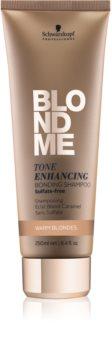 Schwarzkopf Professional Blondme bezsulfátový šampón pre teplé odtiene blond