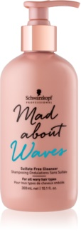 Schwarzkopf Professional Mad About Waves Moisturizing Shampoo for Curly and Wavy Hair Sulfate-Free