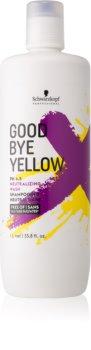 Schwarzkopf Professional Good Bye Yellow Brassy Tones Neutralizing Shampoo For Coloured Or Streaked Hair