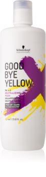 Schwarzkopf Professional Good Bye Yellow champô neutralizante dos tons amarelos para cabelo pintado e com madeixas