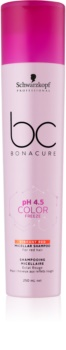 Schwarzkopf Professional pH 4,5 BC Bonacure Color Freeze Micellar Shampoo For Red Hair Shades