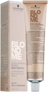 Schwarzkopf Professional Blondme zesvětlující krém pro krytí bílých vlasů