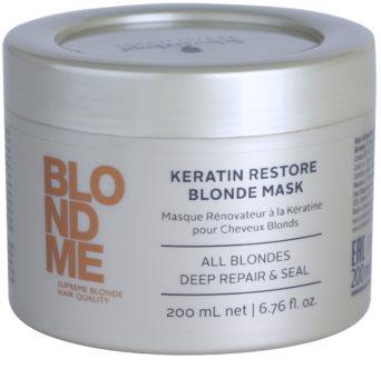 Schwarzkopf Professional Blondme keratinos regeneráló maszk szőke hajra