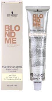 Schwarzkopf Professional Blondme Color farba na vlasy pre prírodné odtiene blond
