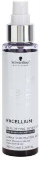 Schwarzkopf Professional BC Bonacure Excellium Beautifying sprej so striebornými pigmentami pre oživenie a zjemnenie farby bielych a strieborných vlasov