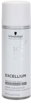 Schwarzkopf Professional BC Bonacure Excellium Beautifying bálsamo embelezador sem enxaguar para cabelos cinzentos e brancos