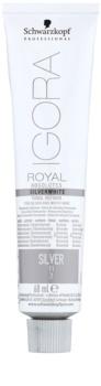 Schwarzkopf Professional IGORA Royal Absolutes SilverWhite tónující demi-permanentní barva na vlasy pro stříbrné a bílé vlasy