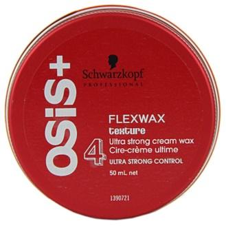 Schwarzkopf Professional Osis+ Flexwax Texture ceara cremoasa fixare foarte puternica