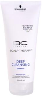 Schwarzkopf Professional BC Bonacure Scalp Therapy hĺbkovo čistiaci šampón pre mastnú pokožku hlavy