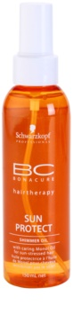 Schwarzkopf Professional BC Bonacure Sun Protect Shimmer Oil With Caring Mono Oil For Sun - Stressed Hair