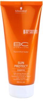 Schwarzkopf Professional BC Bonacure Sun Protect shampoing protecteur pour cheveux exposés au soleil