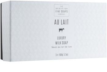 Scottish Fine Soaps Au Lait sada luxusných hydratačných mydiel
